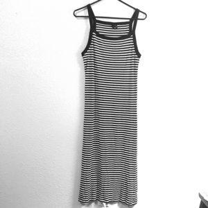 Black and white striped volcom dress